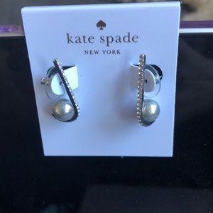 NWT Kate Spade Pave & Pearl drop earrings